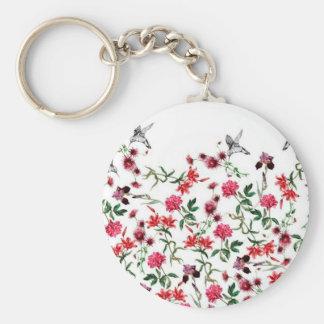 imagem de flores e passaros chaveiros
