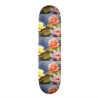imagem de flores num lago skate boards