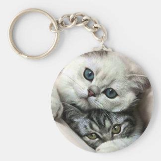 imagem de gata e filho chaveiro