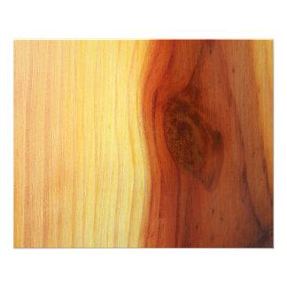 Imagem de madeira panfleto personalizado