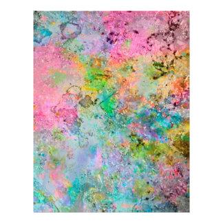 Imagem de mármore abstrata das cores de néon color flyer 21.59 x 27.94cm