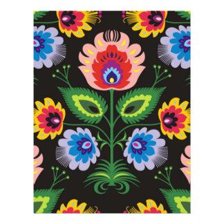 imagem de painel floral panfletos