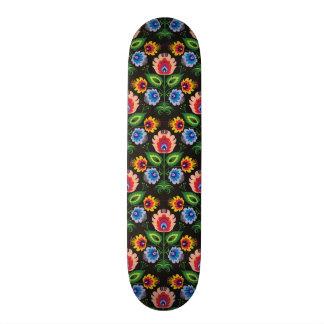 imagem de painel floral shape de skate 18,7cm