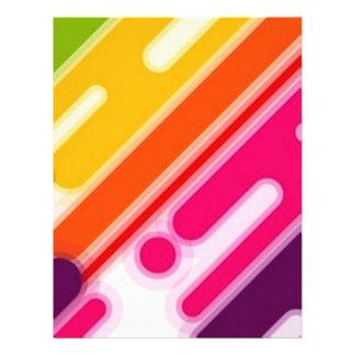 imagem de riscas coloridas flyer 21.59 x 27.94cm