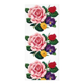 imagem de rosas 10.16 x 22.86cm panfleto