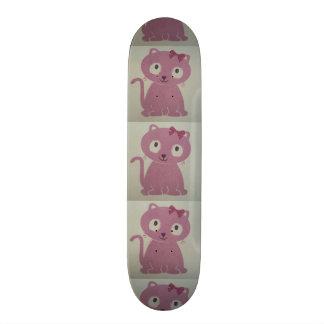imagem de um gato shape de skate 18,1cm