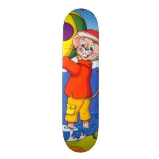 imagem de um ratinho shape de skate 20cm