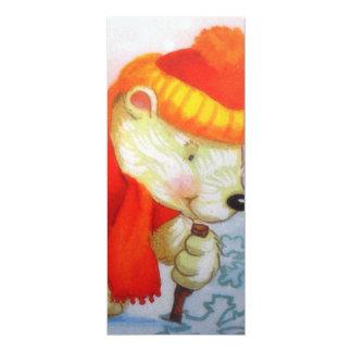 imagem de urso convite 10.16 x 23.49cm