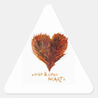 Imagem do amor do coração adesivo triangular