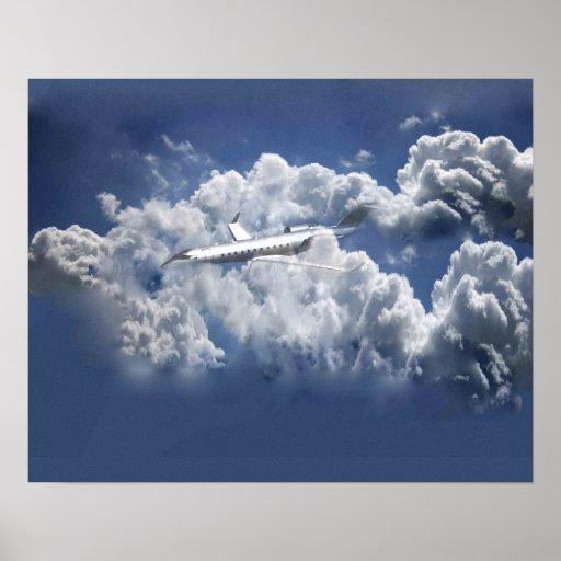 Imagem do avião pôsteres