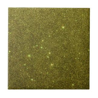 Imagem do brilho do amarelo esverdeado azulejo quadrado pequeno