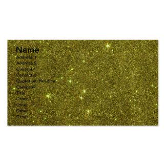 Imagem do brilho do amarelo esverdeado cartões de visitas