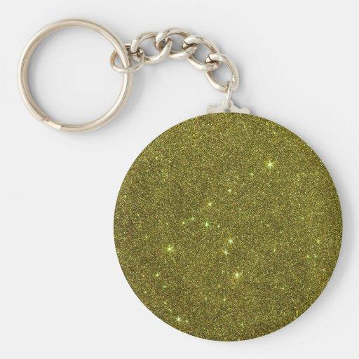 Imagem do brilho do amarelo esverdeado chaveiro