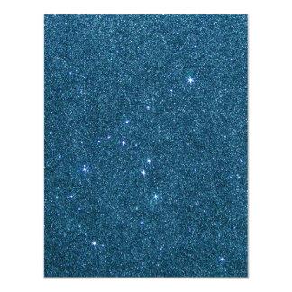 Imagem do brilho na moda azul convite personalizado