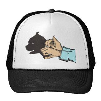 Imagem do cão criada com arte da mão - camisas de boné