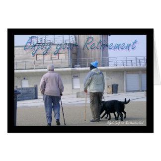 Imagem do cartão da aposentadoria de Blyth e de ho