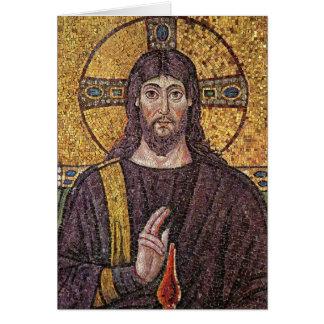 Imagem do cartão vazio religioso do mosaico de