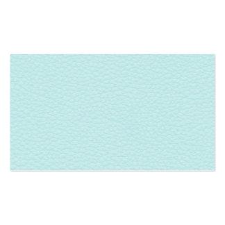 Imagem do couro claro de turquesa cartão de visita