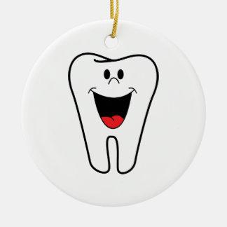 Imagem do dentista ornamento de cerâmica redondo