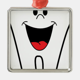 Imagem do dentista ornamento quadrado cor prata