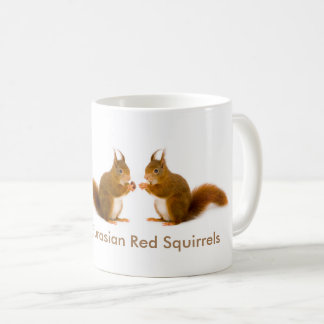 Imagem do esquilo vermelho para a caneca branca