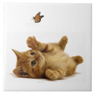 """Imagem do gato para o grande (6"""" X 6"""") azulejo"""