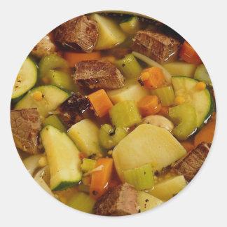 Imagem do guisado de carne adesivo