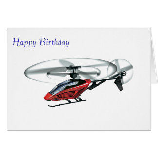 Imagem do helicóptero para o cartão do aniversário
