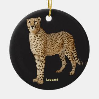 Imagem do leopardo para o ornamento do círculo