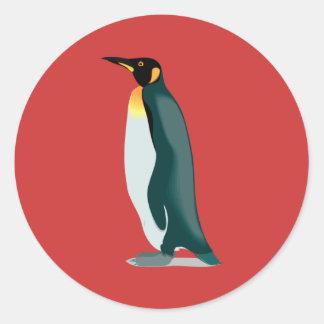 imagem do linux do pinguim adesivos redondos