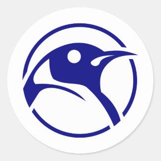 Imagem do linux do pinguim adesivos em formato redondos