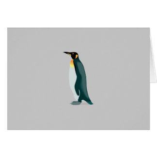imagem do linux do pinguim cartão comemorativo