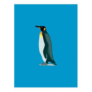 imagem do linux do pinguim cartão postal