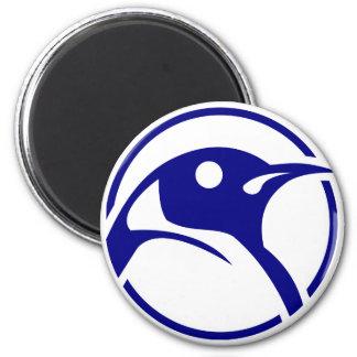 Imagem do linux do pinguim ímã redondo 5.08cm