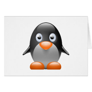 imagem do linux do tux do pinguim cartão comemorativo