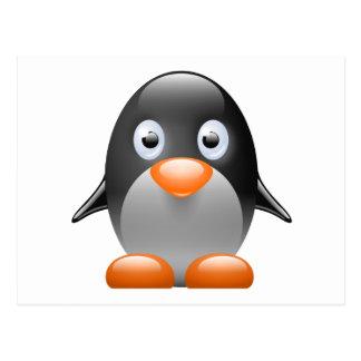 imagem do linux do tux do pinguim cartões postais