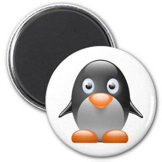 imagem do linux do tux do pinguim ímã redondo 5.08cm