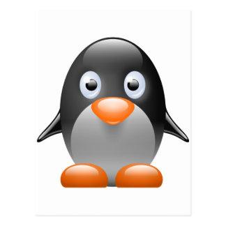 imagem do linux do tux do pinguim cartao postal