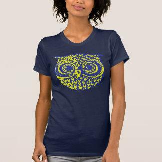imagem do pássaro da coruja camiseta
