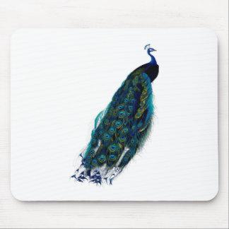 Imagem do pavão do vintage mouse pad