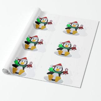 Imagem do pinguim para o papel de envolvimento do papel para embrulhos