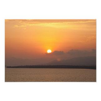 Imagem do por do sol da praia de Calis Foto Arte