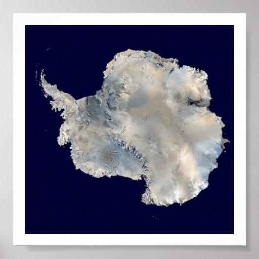Imagem do satélite da Antártica Pôsteres