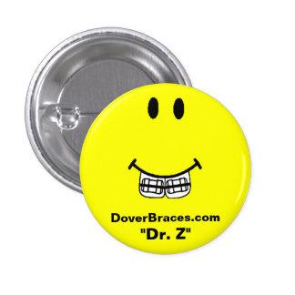 "Imagem do sorriso, DoverBraces.com, ""Dr. Z "" Bóton Redondo 2.54cm"