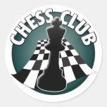 Imagem do tabuleiro de xadrez do jogador de clube adesivos redondos