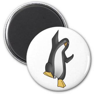 imagem do tux do linux do pinguim ímã redondo 5.08cm