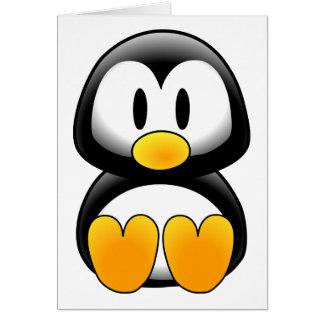 Imagem do tux do pinguim cartão comemorativo