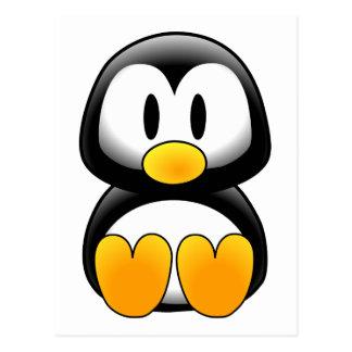 Imagem do tux do pinguim cartão postal