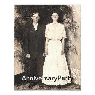 Imagem do vintage do aniversário do marido e da convites personalizado