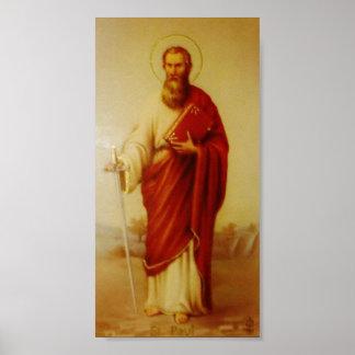 Imagem do vintage do poster de Saint Paul do apóst Pôster